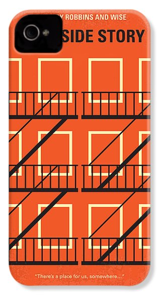 No387 My West Side Story Minimal Movie Poster IPhone 4 Case by Chungkong Art