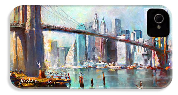 Ny City Brooklyn Bridge II IPhone 4 / 4s Case by Ylli Haruni