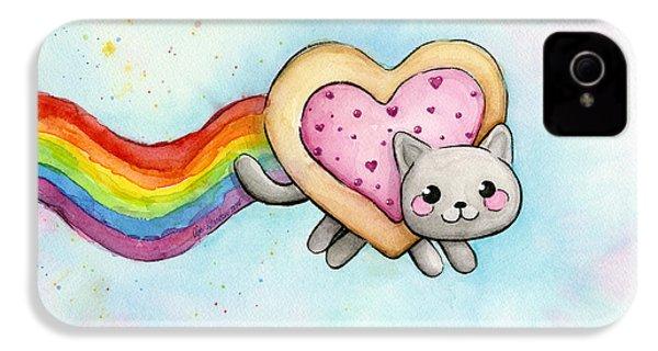 Nyan Cat Valentine Heart IPhone 4 Case