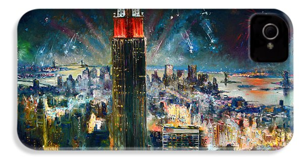 Nyc In Fourth Of July Independence Day IPhone 4 / 4s Case by Ylli Haruni