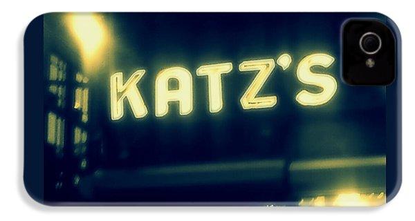 Nyc's Famous Katz's Deli IPhone 4 Case by Paulo Guimaraes