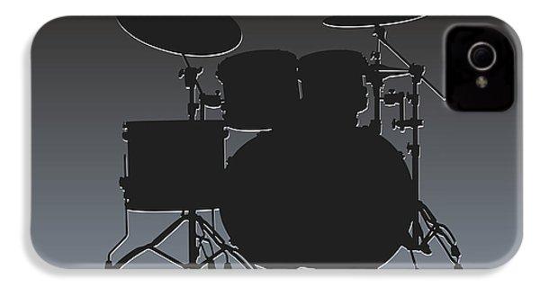 Oakland Raiders Drum Set IPhone 4 Case by Joe Hamilton
