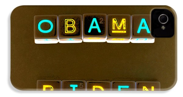 Obama Biden Words. IPhone 4 Case by Oscar Williams