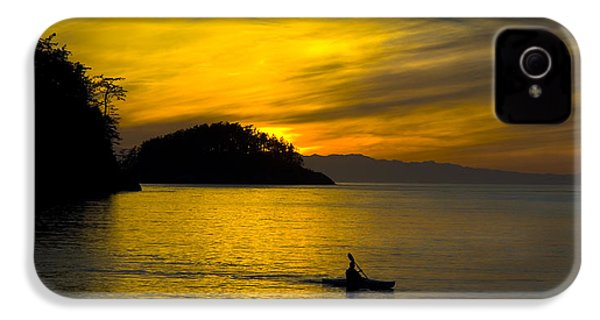 IPhone 4 Case featuring the photograph Ocean Sunset At Rosario Strait by Yulia Kazansky