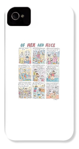 Of Men And Mice IPhone 4 Case by Roz Chast