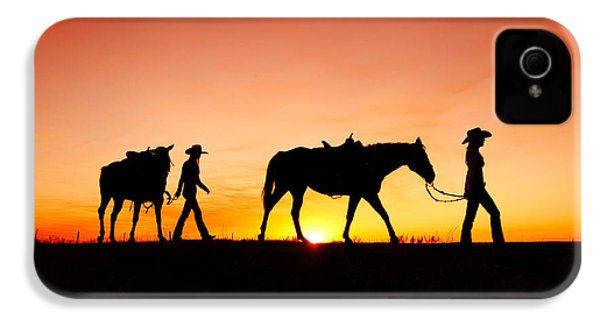 Off To The Barn IPhone 4 Case by Todd Klassy