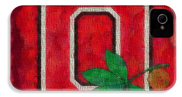 Ohio State Buckeyes On Canvas IPhone 4 / 4s Case by Dan Sproul