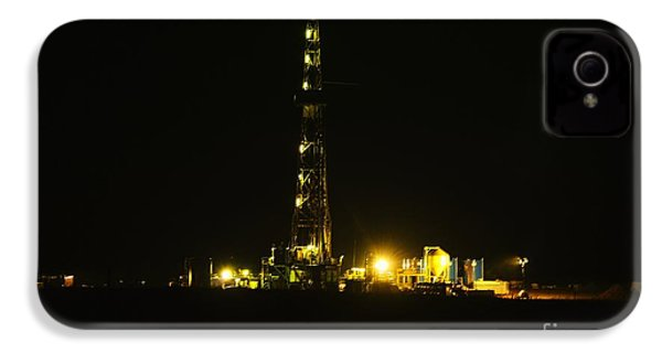 Oil Rig IPhone 4 Case by Jeff Swan