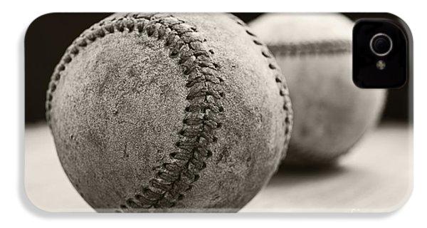 Old Baseballs IPhone 4 / 4s Case by Edward Fielding
