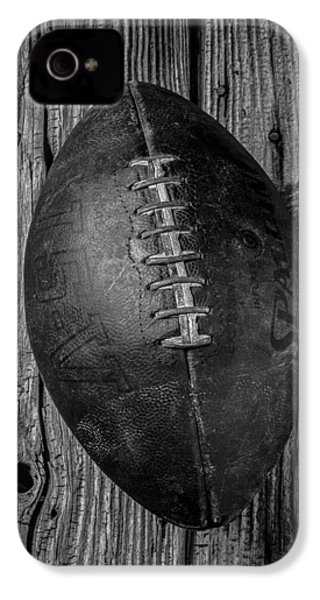 Old Football IPhone 4 Case by Garry Gay