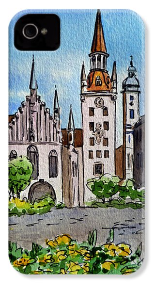 Old Town Hall Munich Germany IPhone 4 Case