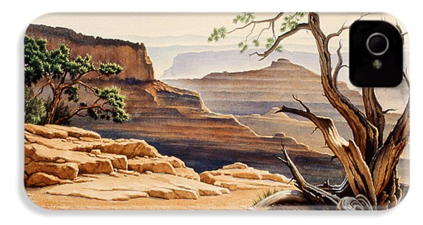 Old Tree At The Canyon IPhone 4 / 4s Case by Paul Krapf