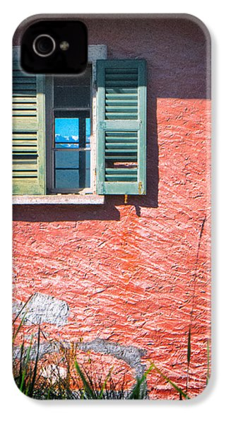 IPhone 4 Case featuring the photograph Old Window With Reflection by Silvia Ganora