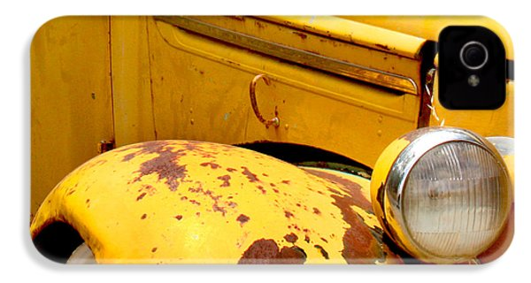 Old Yellow Truck IPhone 4 Case by Art Block Collections