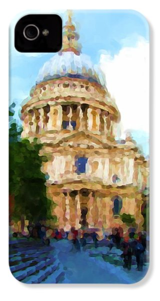 On The Steps Of Saint Pauls IPhone 4 Case by Jenny Armitage