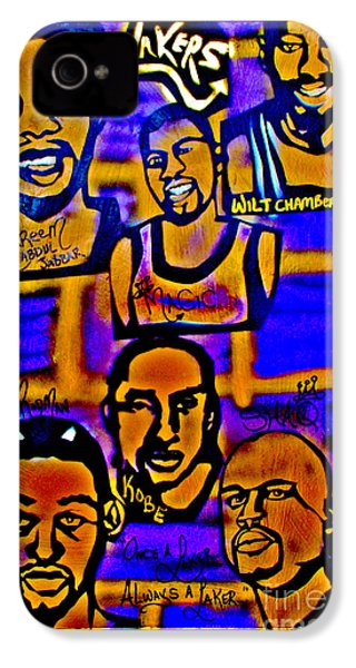 Once A Laker... IPhone 4 Case by Tony B Conscious