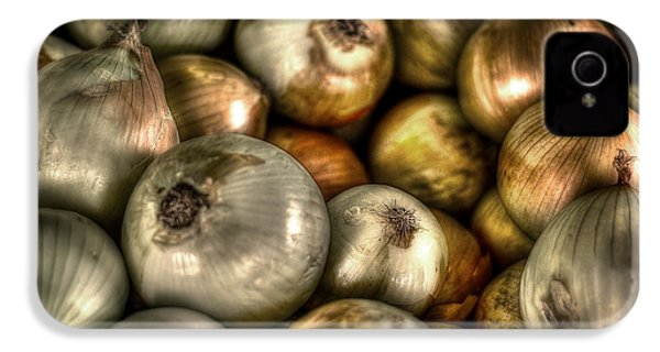 Onions IPhone 4 Case by David Morefield