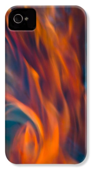 IPhone 4 Case featuring the photograph Orange Fire by Yulia Kazansky