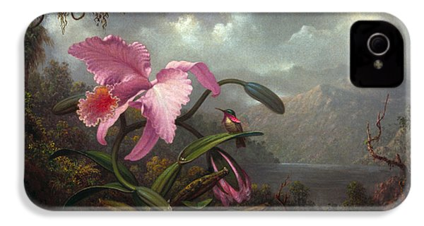 Orchid And Hummingbir IPhone 4 Case