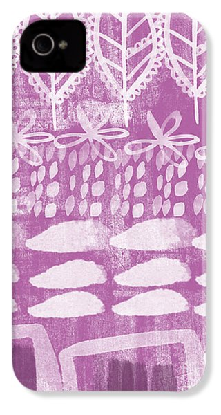 Orchid Fields IPhone 4 Case by Linda Woods