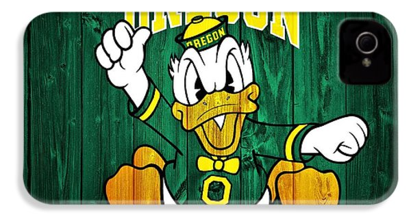 Oregon Ducks Barn Door IPhone 4 Case by Dan Sproul