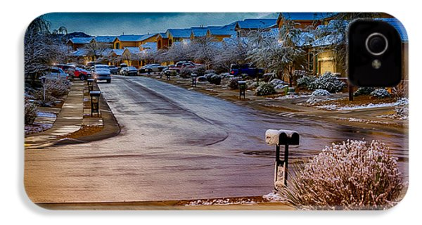 Oro Valley Winter No.54 IPhone 4 Case by Mark Myhaver