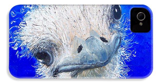 Ostrich Painting 'waldo' By Jan Matson IPhone 4 Case by Jan Matson