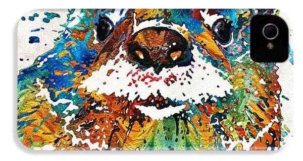 Otter Art - Ottertude - By Sharon Cummings IPhone 4 Case