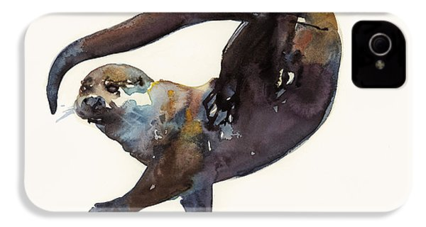 Otter Study II  IPhone 4 Case by Mark Adlington