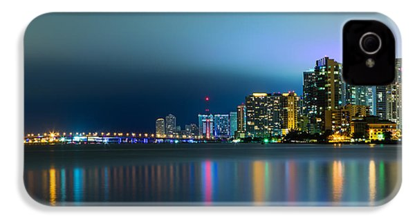 Overcast Miami Night Skyline IPhone 4 Case