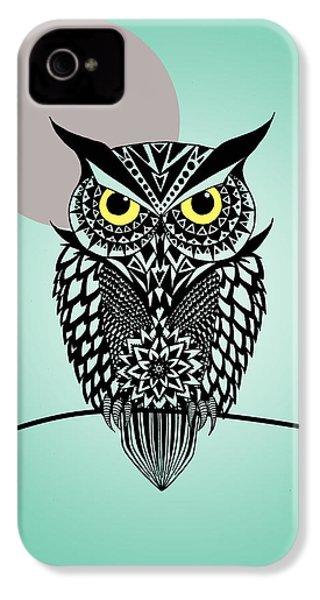 Owl 5 IPhone 4 Case by Mark Ashkenazi