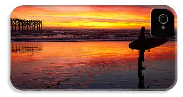 Pacific Beach Was On Fire Tonight IPhone 4 Case by Nathan Rupert