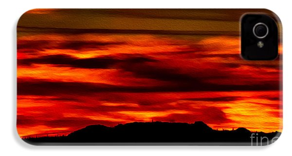 IPhone 4 Case featuring the photograph Painted Sky 34 by Mark Myhaver