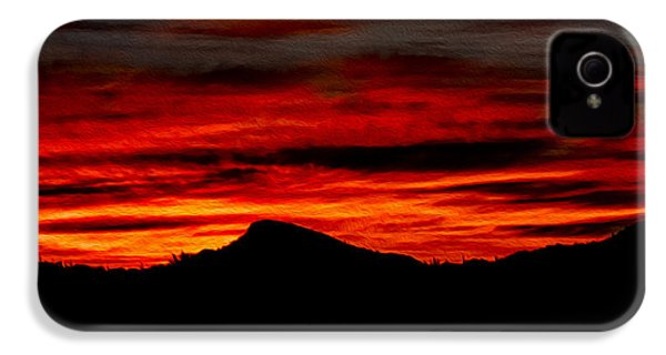 IPhone 4 Case featuring the photograph Painted Sky 45 by Mark Myhaver