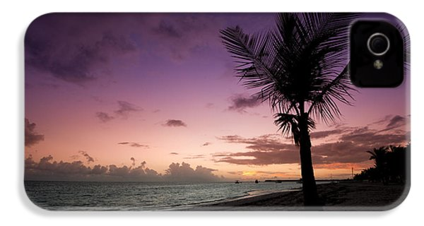 Palm Tree Sunrise IPhone 4 / 4s Case by Sebastian Musial