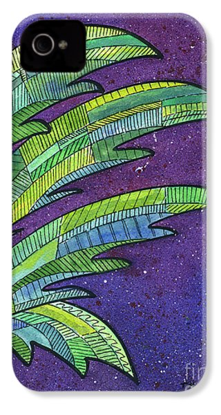 Palms Against The Night Sky IPhone 4 / 4s Case by Diane Thornton