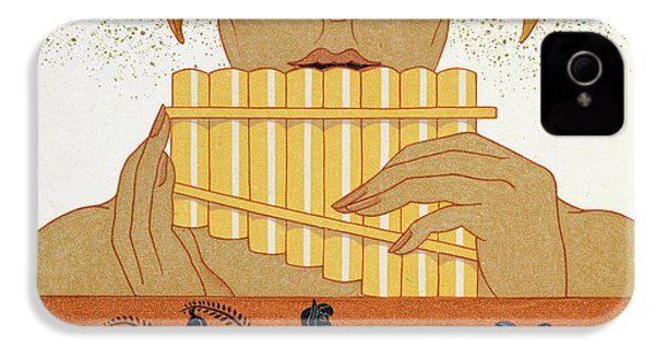 Pan Piper IPhone 4 Case by Georges Barbier