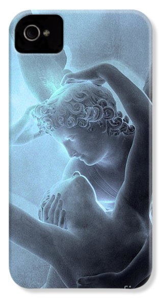 Paris Eros And Psyche - Louvre Sculpture - Paris Romantic Angel Art Photography IPhone 4 Case by Kathy Fornal