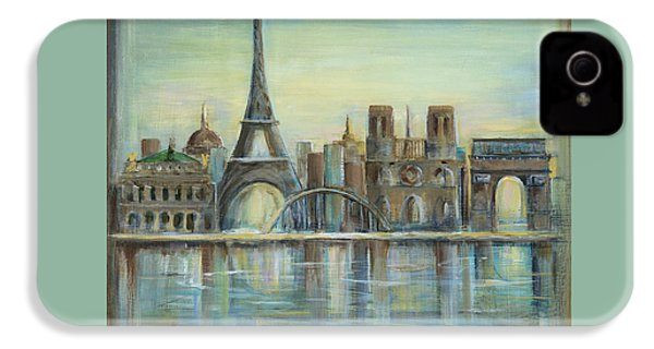 Paris Highlights IPhone 4 Case by Marilyn Dunlap
