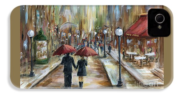 Paris Lovers Ill IPhone 4 Case by Marilyn Dunlap