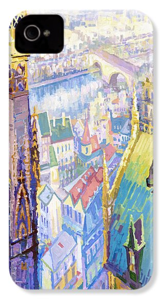 Paris Shadow Notre Dame De Paris IPhone 4 / 4s Case by Yuriy  Shevchuk