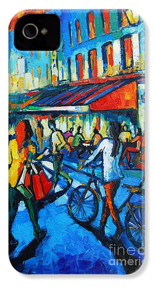 Parisian Cafe IPhone 4 Case by Mona Edulesco