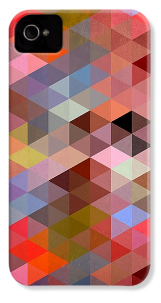Pattern Of Triangle IPhone 4 / 4s Case by Mark Ashkenazi