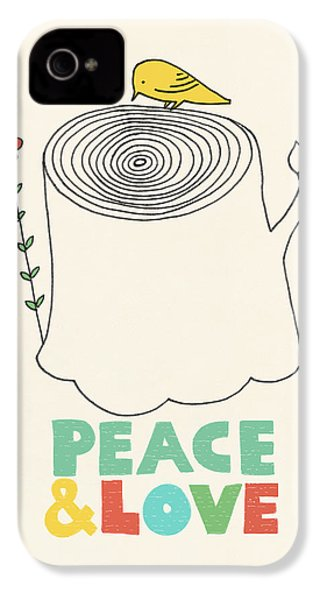 Peace And Love IPhone 4 / 4s Case by Eric Fan