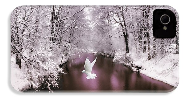 Peace On Earth   IPhone 4 Case by Jessica Jenney