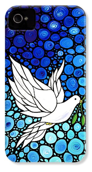 Peaceful Journey - White Dove Peace Art IPhone 4 Case