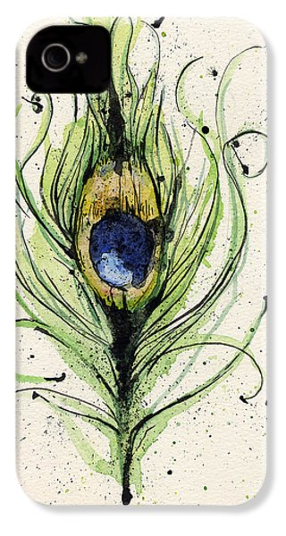 Peacock Feather IPhone 4 / 4s Case by Mark M  Mellon