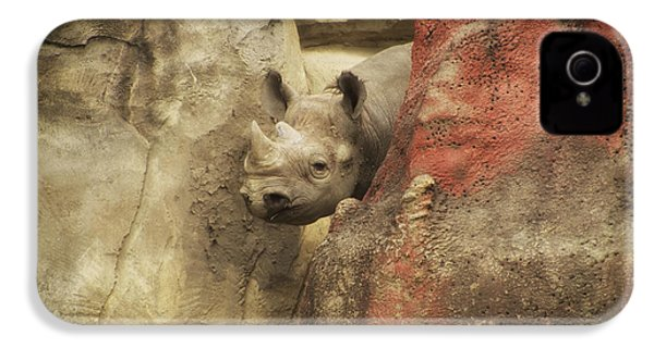 Peek A Boo Rhino IPhone 4 / 4s Case by Thomas Woolworth