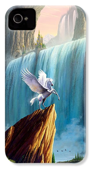 Pegasus Kingdom IPhone 4 / 4s Case by Garry Walton
