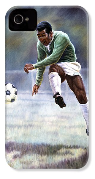 Pele IPhone 4 Case by Gregory Perillo